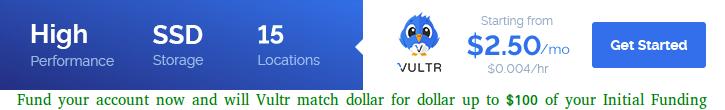 Vultr SSD 云服务器商家
