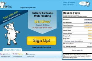 Fatcow Secret Offer – 优惠60% 无限  Hosting 仅 $3.15每月 – 免费域名 Name + $100 Ad Credits for Google, Yahoo! & Bing