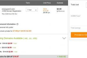 GoDaddy – 仅 $0.99 域名 .com registration Sep 2014