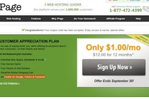 iPage – 虚拟主机 仅 $1每月 & Ad Credits for Google & FB