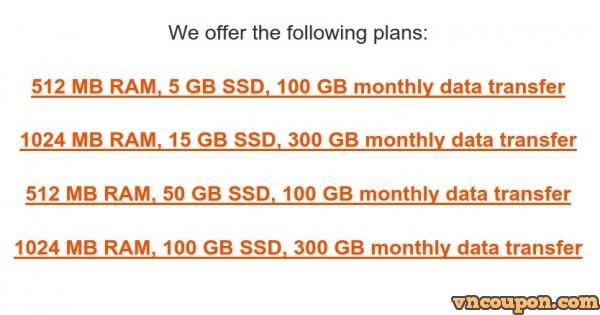 XVM Labs – New套餐 with 50 GB & 100 GB SSD Storage