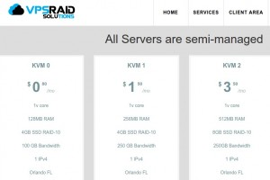 VPSRAID Solutions – KVM SSD VPS – Low price from 6$每年