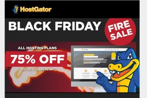 Hostgator – 黑色星期五 2014 Offer 优惠75% All Hosting Plan