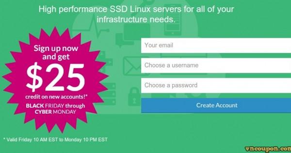 [黑色星期五 2014] Linode – get $25 credit for SSD 云服务器