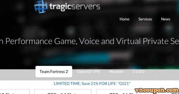Tragic Servers offer 2GB内存SSD VPS 仅 $15每年 in 洛杉矶