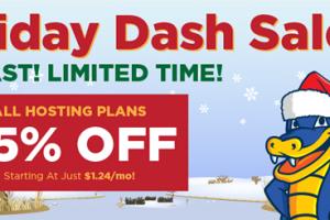 Hostgator – The Holiday Dash Sale is back – 优惠75% New 虚拟主机