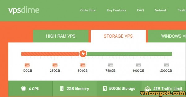 VPSDime – Cheap Storage VPS 最高2TB storage space