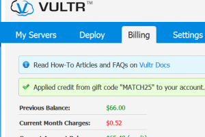 [网络星期一节日 2014] Vultr Promo Specials – Get $25 免费in new funds
