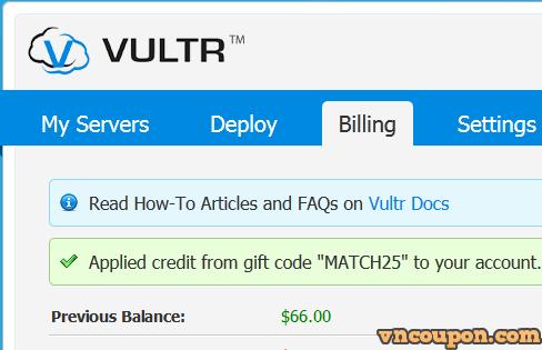 [网络星期一节日 2014] Vultr Promo Specials – Get $25 免费in new funds