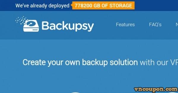 Backupsy – 100GB HDD Storage KVM VPS 仅 $40.00 年付