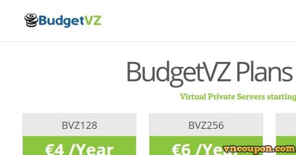 BudgetVZ – OpenVZ Budget VPS 最低 € 4每年