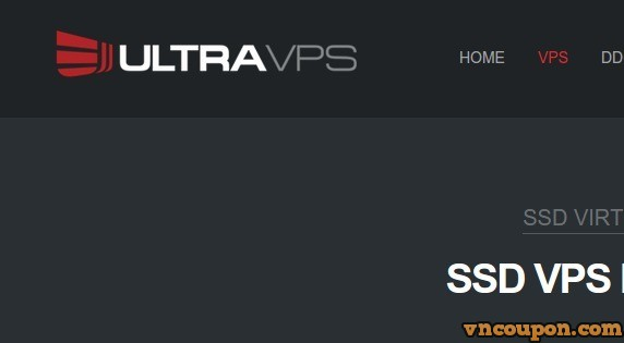UltraVPS – 优惠70% Annual KVM SSD VPS Plans – 512MB 仅 $12每年