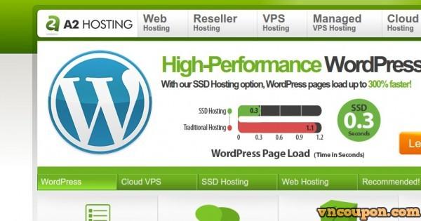 A2 Hosting – Fast WordPress Hosting – 优惠51% 优惠信息