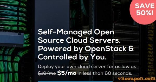 DreamCompute – DreamHost offer 50% Cloud VPS 最低 $5/mo