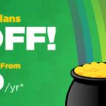 HostGator – St. Patrick's Day Sale – 优惠55% 虚拟主机