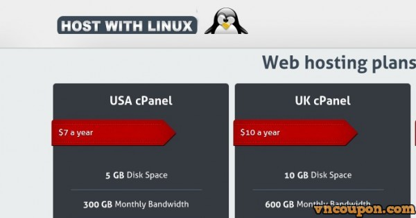 [售罄] HostWithLinux – 特价机 VPS套餐 – 最低 $15每年 for 1GB RAM