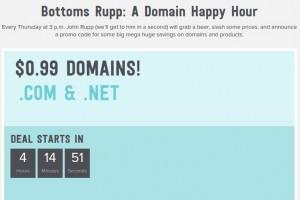 Name.com – 域名 Happy Hour Sale- 仅 $0.99 .COM/.NET