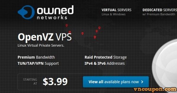 OwnedNetworks – Storage OpenVZ VPS 最低 $13每年
