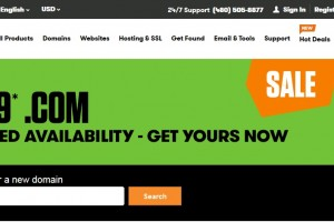 $0.99 .COM 优惠券 Godaddy for US or Canada Account