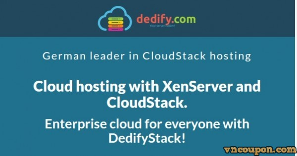 DedifyStack – Private Cloud from 0.004€/h、get 20% credits for free