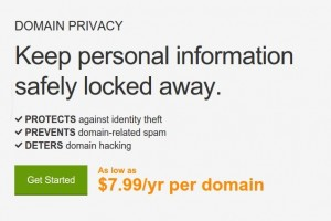 Godaddy 域名 Privacy – 1$每年 Private Registration 优惠券