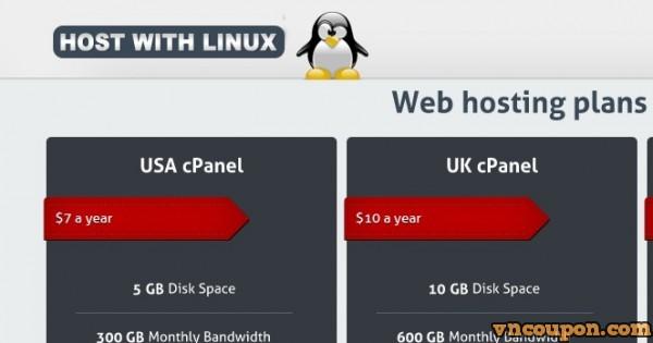 HostWithLinux – 香港 VPS start from 2 USD per month
