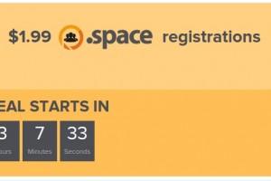 Name.com 域名 Happy Hour – $1.99 .space registrations