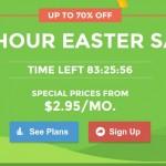 SiteGround – 96 Hour Easter Sale – 最高优惠70% 虚拟主机