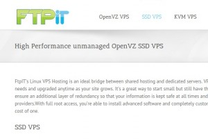 FtpIT –  OpenVZ SSD VPS – 2GB 内存 + 4 Cores + 20GB SSD Storage – 5.99 USD per month in 纽约