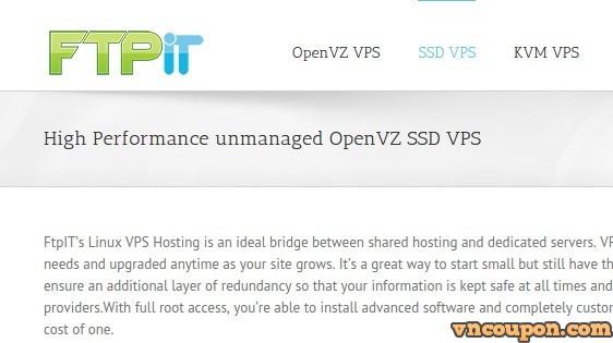 FtpIT –  OpenVZ SSD VPS – 2GB 内存 + 4 Cores + 20GB SSD Storage – 5.99 USD per month in 纽约