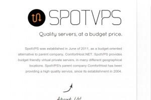 SpotVPS.Com 72 Hour Sale – 2GB 内存 20GB Pure SSD VPS 仅 $30每年