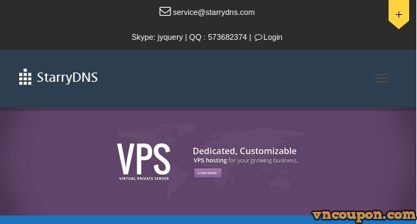 StarryDNS – 优惠46% OpenVZ VPS 最低 $6每月 in 香港 and日本