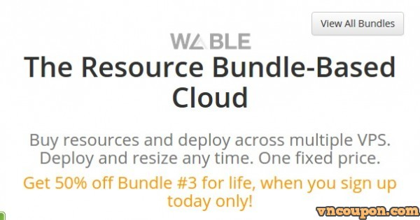 [Expired] Wable Powerboost – Get 优惠50% Cloud SSD VPS for Life