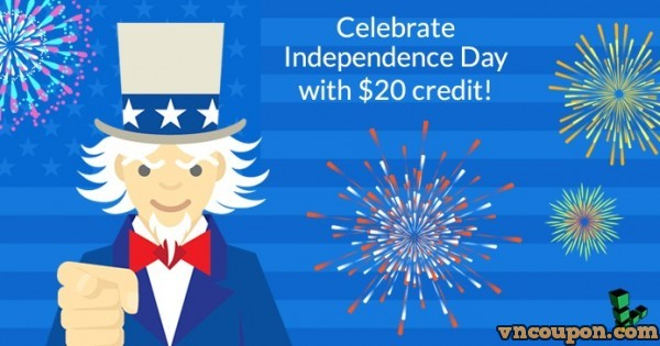 Linode offering $20 免费credit for Cloud VPS on Independence Day