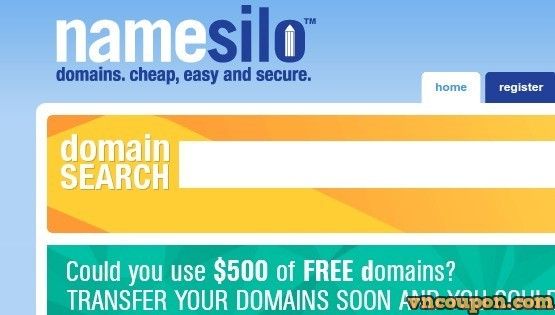 Namesilo  钜惠 on first-year registrations of .site, .online,、.tech from $1.99