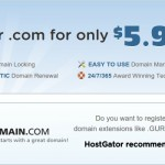 HostGator – Get your .com 域名 for 仅 $5.99每年