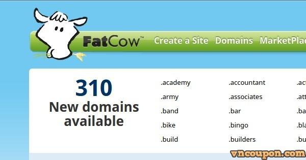 FatCow – .COM & .NET Registration 仅 $5.99 for 首年