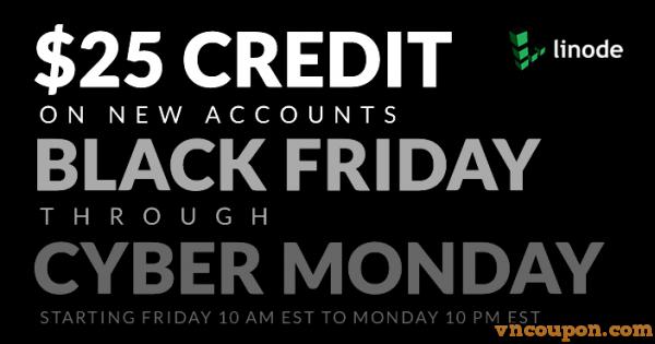 Linode – Get $25 Credit 限新客户 on 黑色星期五 & Cyber Monday 2015