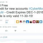 [网络星期一节日 2015] Vultr – 免费赠送$30 限新客户