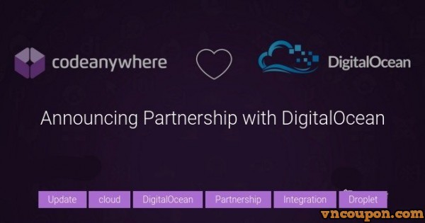 CodeAnywhere – Get $20 DigitalOcean Credit 限新客户