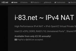 i-83.net – High Performance IPv4 NAT VPS – New Location New Delhi, India & Singapore from 2.50英镑每年 – Unmetered Port