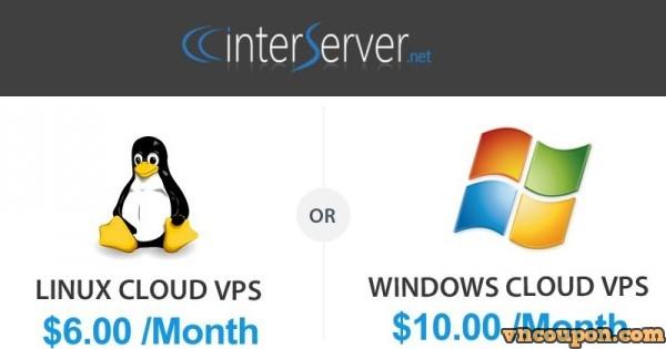 [ 免费Trial VPS ] InterServer – 1GB内存VPS 仅 0.01$ For First Month