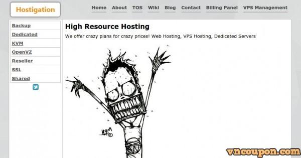 Hostigation – 优惠30%永久折扣 OpenVZ VPS – 免费DDoS防护 in 洛杉矶