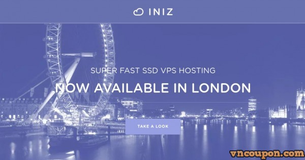 INIZ – New SSD KVM VPS 提供 – 优惠20% 优惠券 – New位置 in UK & Virginia US