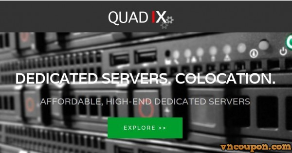 QuadIX – 独服 特价机 from $10 USD – Intel CPU / 4 GB 内存 / 500 GB Disk / 1 Gbps Port
