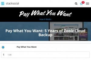 StackSocial – Zoolz Cloud Backup – 100GB backup storage $1 for 5 years