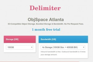 Try Delimiter ObjSpace 100GB Plan 【免费】 (1 month trial) – $99/3 Years 2TB Storage (优惠92%)