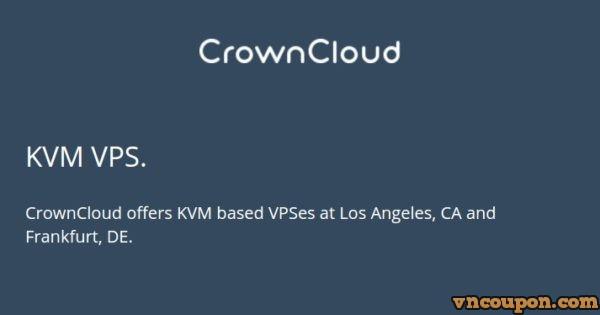 CrownCloud – KVM VPS Promo/ 2GB RAM/ 40 GB SSD/ 3TB 流量 – 7 USD per month in 洛杉矶 CA