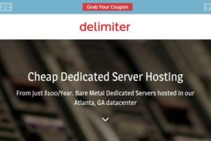 Delimiter 特价机 独服 仅 $100每年