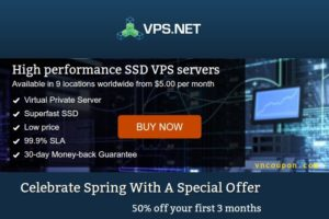 VPS.NET – $10 免费Credit for SSD VPS in 22 global位置
